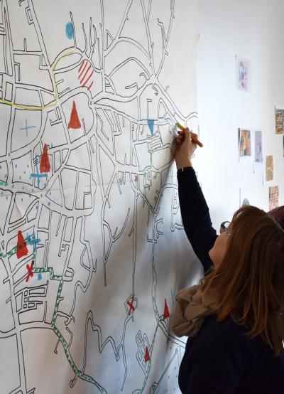 ORAN – CLEA Résidence Mission Communauté de Communes Sud-Avesnois - 2018 – Paysages intérieurs et extérieurs - CSC de Fourmies - carte sensible