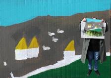 ORAN – CLEA Résidence Mission Communauté de Communes Sud-Avesnois - 2018 – Paysages intérieurs et extérieurs - CSC de Fourmies - Photomontage Evelyne Dequesne