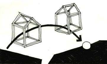 ORAN - La traversée - Croquis 3 - 2017 - 9,5 x 14,5 cm